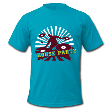 DJ House Party Custom T-shirt Design