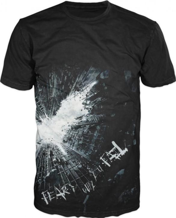 Dark Knight Fear Fail Men's Black Tee poster custom design