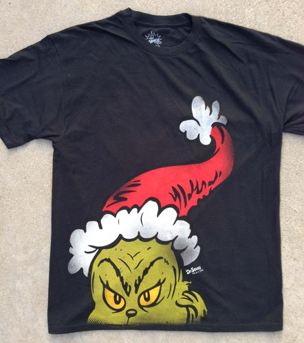 Dr Seuss The Grinch Who Stole Christmas Wearing Xmas Cap