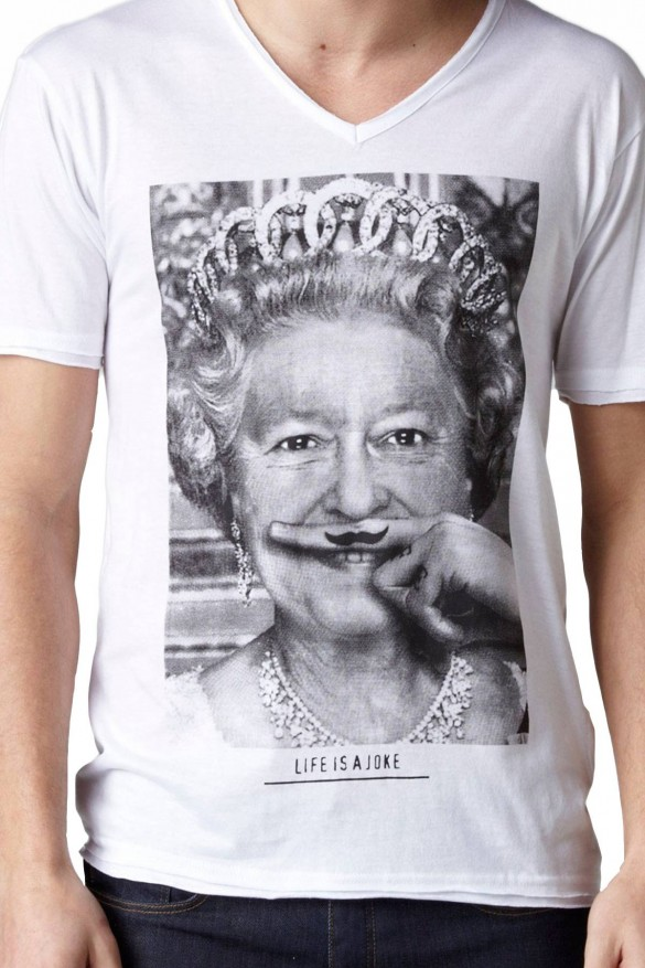 Eleven Paris Queen of England custom tee design