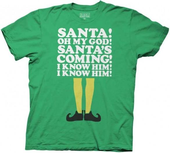 Elf Shirt Santas Coming T-shirt Design