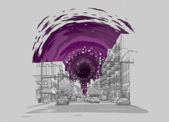 Event Horizon by Aled Lewis and Joe Van Weterin Tee design