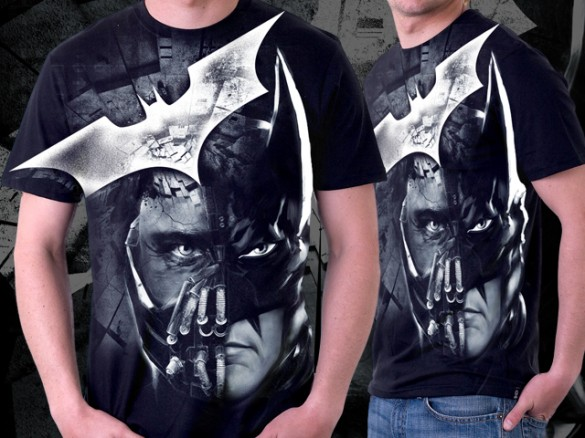 Batman Bane The Dark Knight Rises - Face Off by roguestudios custom t-shirt design
