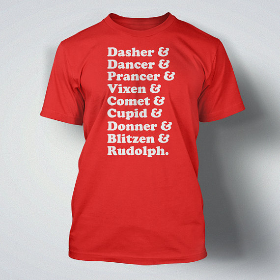 Funny Reindeer Names Custom T-shirt  Design