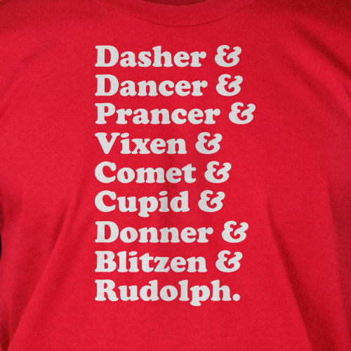 Funny Reindeer Names Custom Tee Design