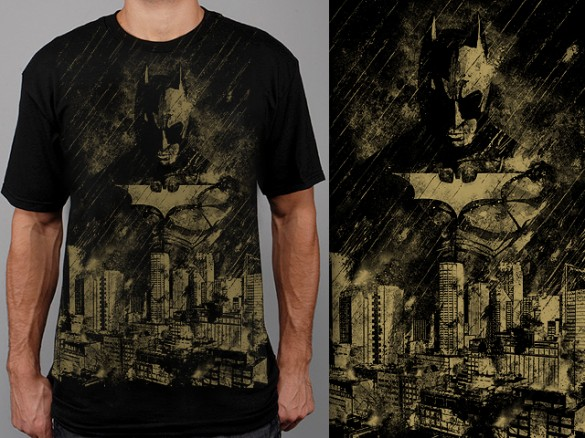 Gotham Is Ashes by spacemonkeydr custom t-shirt design