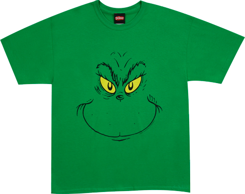 Grinch Face Shirt T-Shirt Design