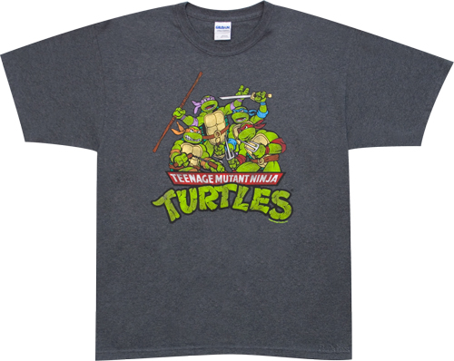 Group Teenage-Mutant Ninja Turtles t-shirt design