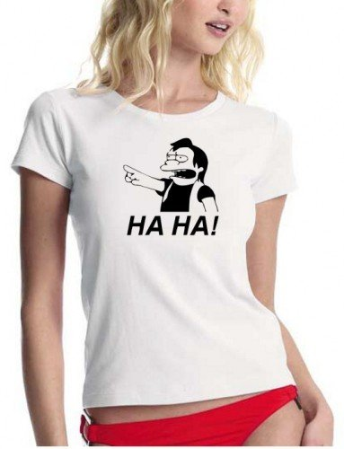 HA HA ! NELSON - THE SIMPSONS - sexy T-SHIRT design