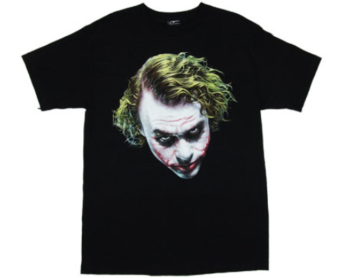 Heath Ledger The Joker Batman the Dark Knight t-shirts tee custom design