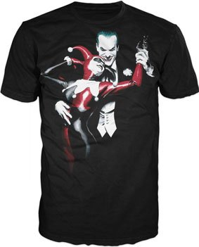 JOKER  HARLEY QUINN T-Shirt by Alex Ross the joker batman custom t-shirt design