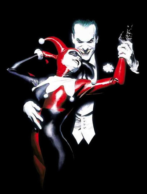 JOKER  HARLEY QUINN T-Shirt custom design by Alex Ross the joker batman custom t-shirt design