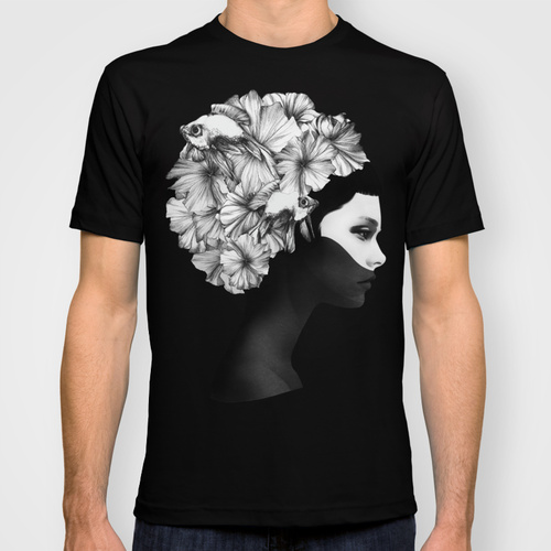 Marianna black custom tee design by Ruben Ireland