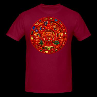 Mayan Aztec Sun Calendar Custom T-shirt Design