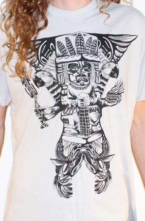 Mayan statue custom t-shirt design