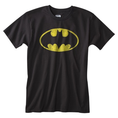 Men's Batman Tee - Black logo custom t-shirt design