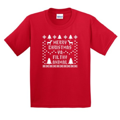 Merry Christmas Ya Filthy Animal Custom T-shirt Design