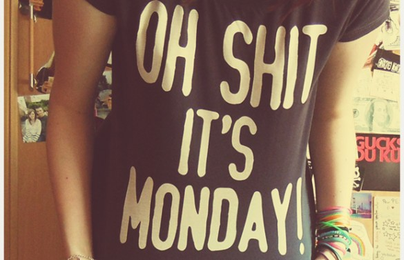 i hate monday's custom tee design