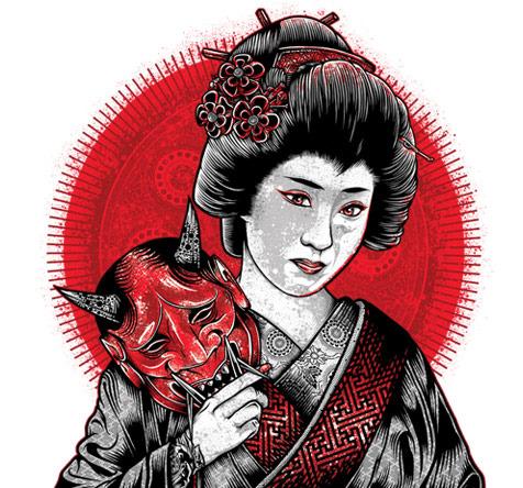 Oni Geisha Custom Tee Design