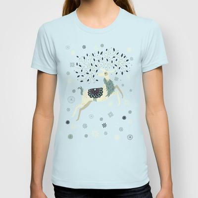 Prancing Reindeer Custom T-shirt Design