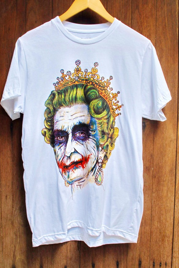 Queen Elizabeth Royal Family Joker white T-shirt custom design