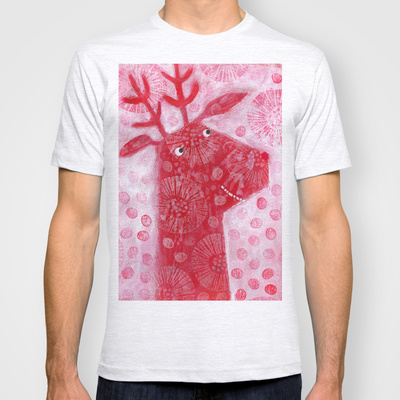Red Reindeer custom t-shirt design