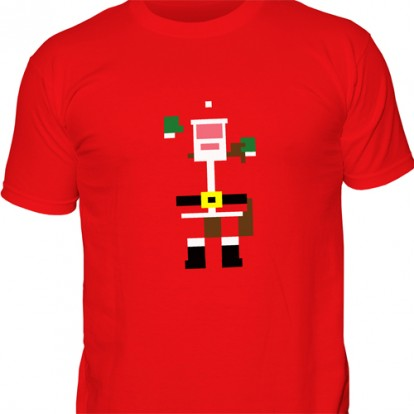 Red Retro Santa Custom T-shirt Design