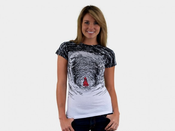 Red Riding Hood Custom T-shirt Design Girl