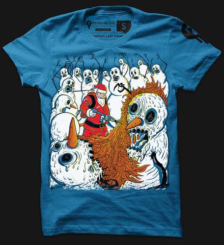 SANTA'S LAST STAND Custom T-shirt Design