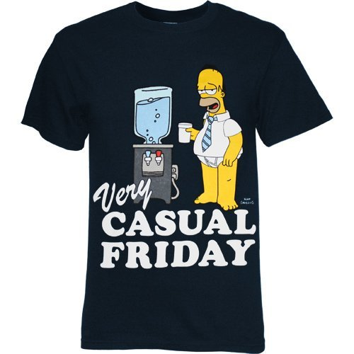 SIMPSONS CASUAL FRIDAY Navy Blue Tee t-shirt design
