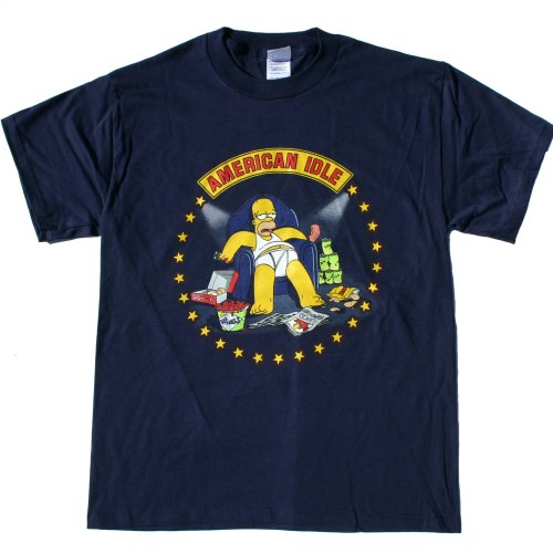 SIMPSONS HOMER SIMPSON - AMERICAN IDLE - T SHIRT design Licensed
