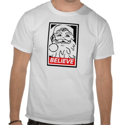 Santa Believe Custom T-shirt Design