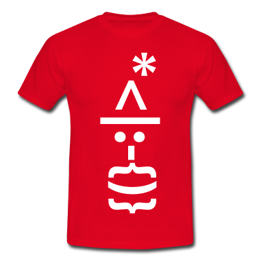 Santa with Beard Text Emoticon T-Shirts