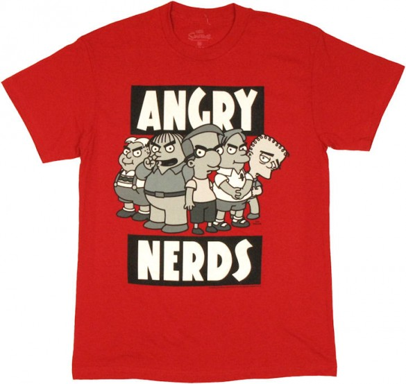 Simpsons Angry Nerds T Shirt