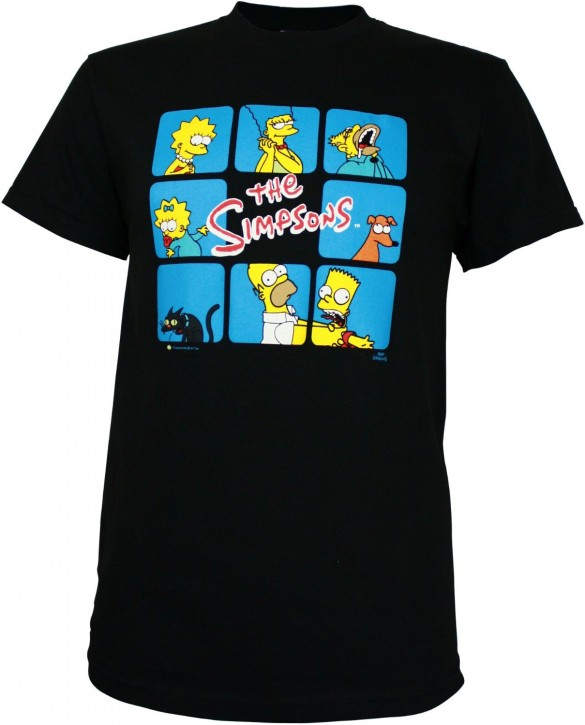 Simpsons Brady Bunch Box Spoof Men's T-Shirt