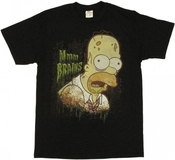 Simpsons Brains T Shirt