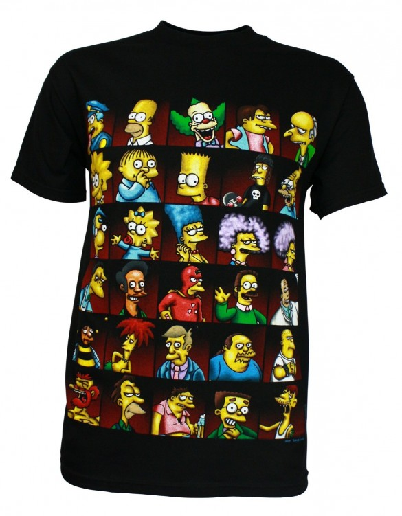 Simpsons Character Montage Men's T-Shirt