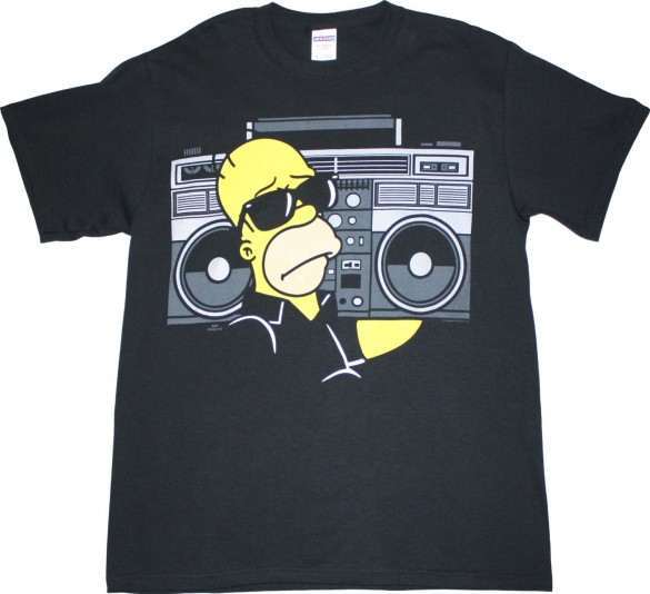 Simpsons Homer Boombox Men's T-Shirt design