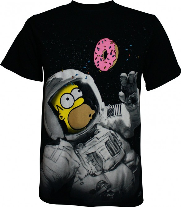 Simpsons Homer In Space Men's T-Shirt