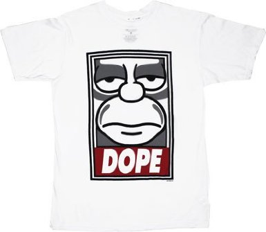 Simpsons Homer Simpson Dope - Sheer T-shirt design