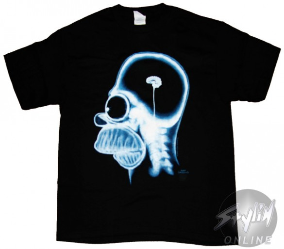 Simpsons Homers Brain T-Shirt