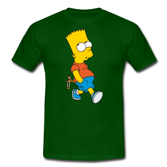 Simpsons T-Shirt Design Bart With Slingshot