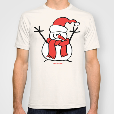 Snowman Fitted T-shirt custom design