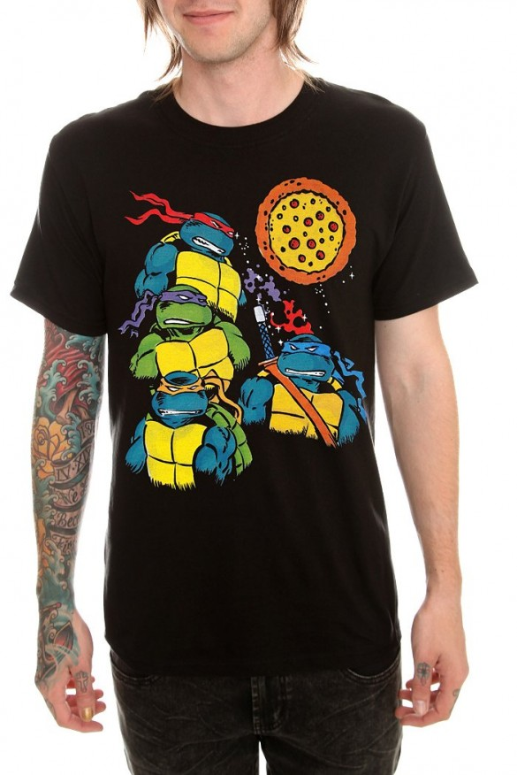Teenage Mutant Ninja Turtles Pizza T-shirt  Design