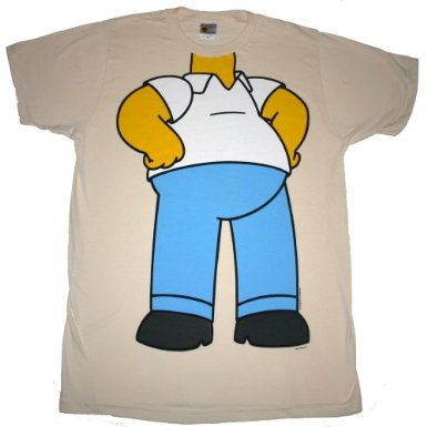 THE SIMPSONS HOMER COSTUME T-SHIRT