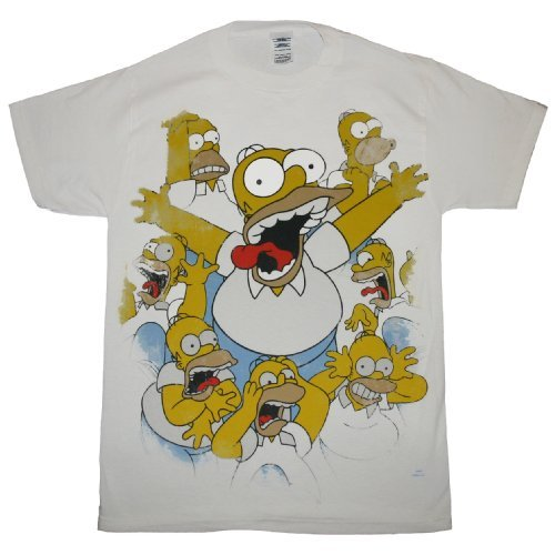 THE SIMPSONS HOMER FREAKS OUT t-shirt design