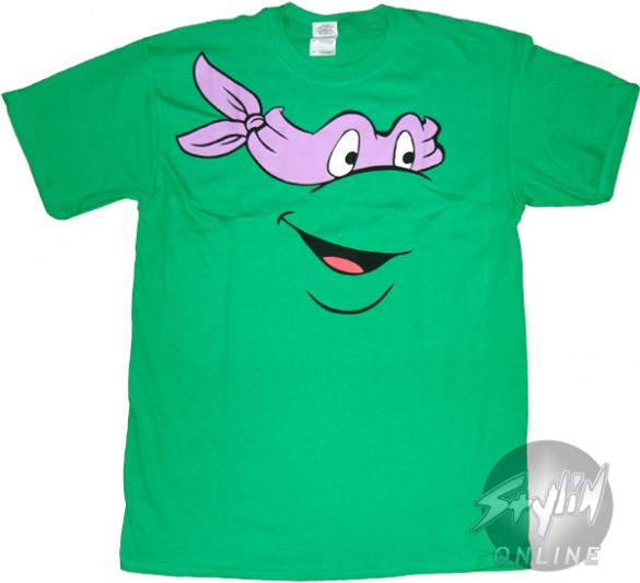 Teenage Mutant Ninja Turtles Donatello Face T-Shirt Design