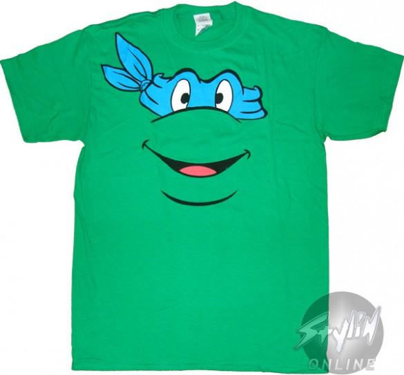 Teenage Mutant Ninja Turtles Leonardo Face T-Shirt Design