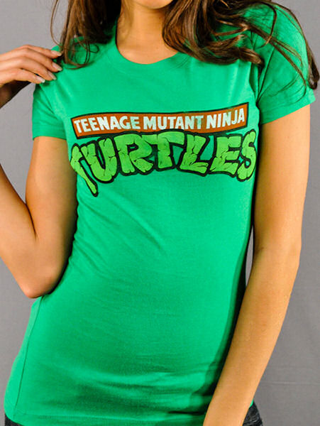 Teenage Mutant Ninja Turtles Logo Baby Tee Design