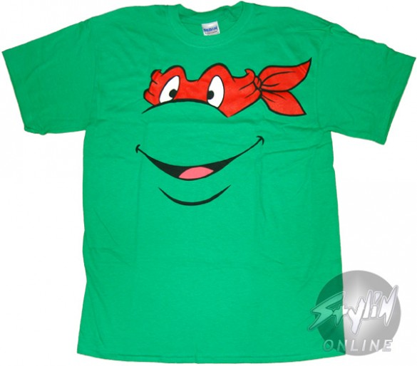 Teenage Mutant Ninja Turtles Raphael Face T-Shirt Design